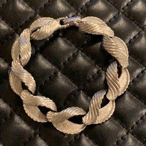 Vintage Kramer Silver Statement Bracelet